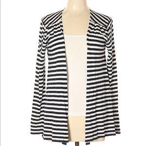 Vineyard Vines navy and white striped cardigan